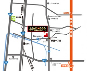 キング666東海 地図